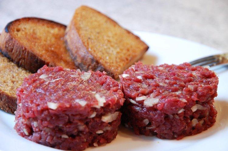 tatarský biftek - originál recept
